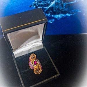 Strawberry Gold Rhodolite Garnet Ring